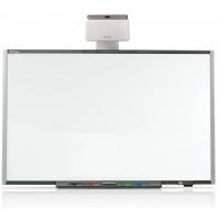 """SMART Board 685 интерактивная доска 87"""" дюймов с проектором UF70w и настенным креплением к проектору"""