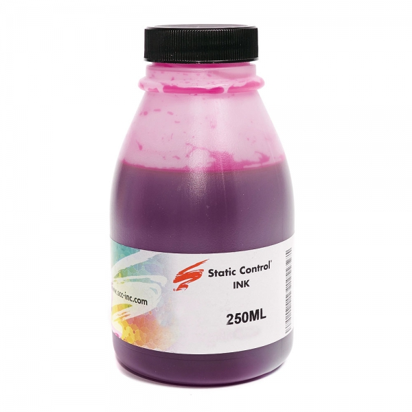 Чернила для HP INK006M-250ML, STATIC CONTROL (Dye Magenta, 250 мл)
