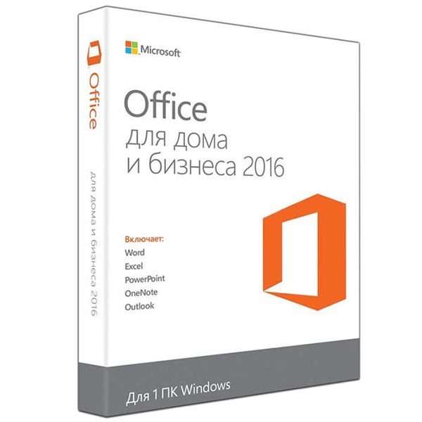Программное обеспечение Microsoft Office Home and Business 2016 64 Russian Only DVD (T5D-02292)