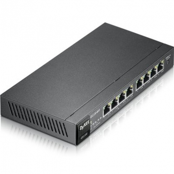 ZyXEL GS1100-8HP коммутатор управляемый, Gigabit Ethernet c 4 портами High Power PoE, 8 портов