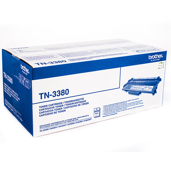 BROTHER TN-3380 тонер-картридж для HL-5440D, HL-5450DN, HL-5470DW, HL-6180DW, DCP-8110DN, DCP-8250DN, MFC-8520DN, MFC-8950DW (8000 стр)