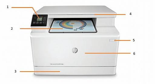 Внешний вид и основные компоненты МФУ HP Color LaserJet Pro M180n