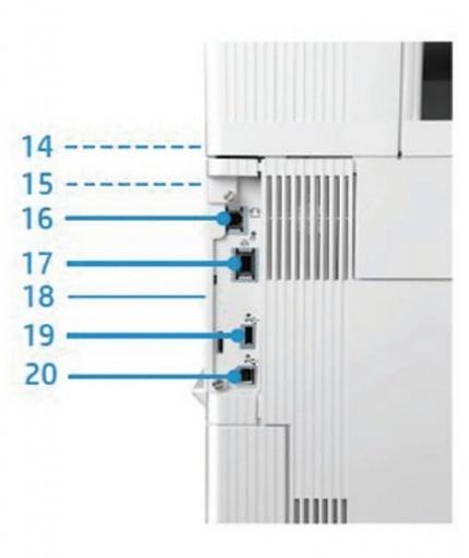 Внешний вид и основные компоненты МФУ HP Color LaserJet Enterprise M577dn