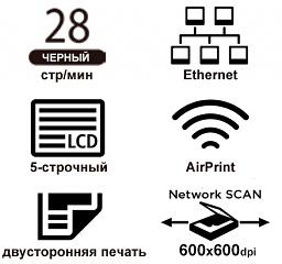 Основные свойства CANON i-SENSYS MF264dw лазерного черно-белого МФУ «3 в 1» формата А4