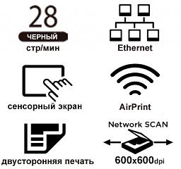 Основные свойства СANON i-SENSYS MF267dw лазерного черно-белого МФУ «Все в одном» формата А4