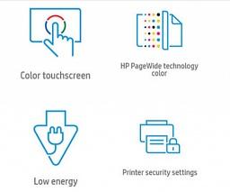 Основные преимущества струйного принтера HP PageWide Enterprise 556xh